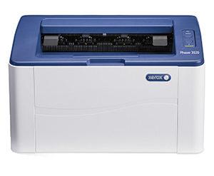 Czaro-biała monochromatyczna drukarka Xerox Phaser 3020